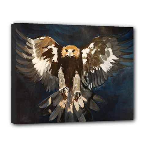 Golden Eagle Canvas 14  X 11  (framed)