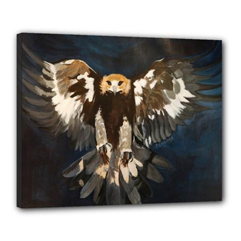 Golden Eagle Canvas 20  X 16  (framed)