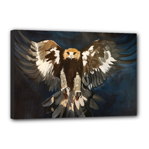 Golden Eagle Canvas 18  X 12  (framed)