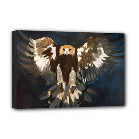 GOLDEN EAGLE Deluxe Canvas 18  x 12  (Framed)