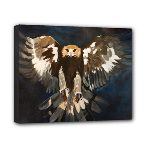 Golden Eagle Canvas 10  X 8  (framed)
