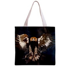 Golden Eagle Full All Over Print Grocery Tote Bag