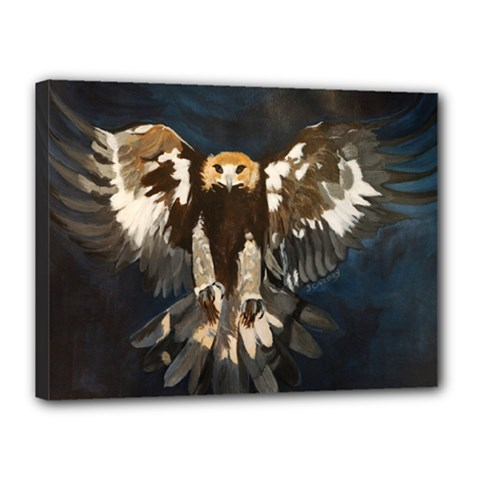 Golden Eagle Canvas 16  X 12  (framed)