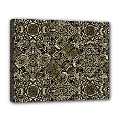Steam Punk Pattern Print Deluxe Canvas 20  X 16  (framed)