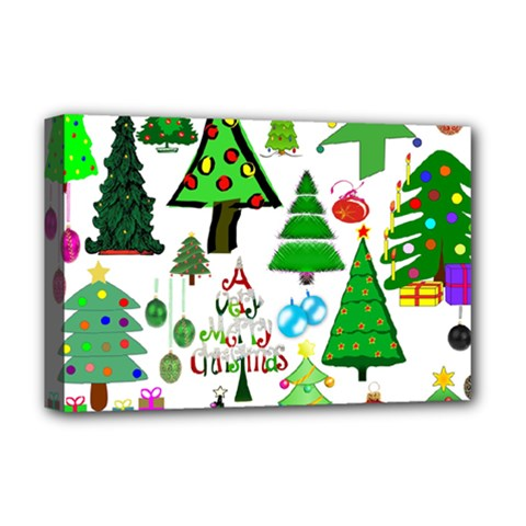 Oh Christmas Tree Deluxe Canvas 18  x 12  (Framed)