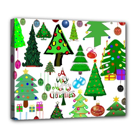 Oh Christmas Tree Deluxe Canvas 24  X 20  (framed)