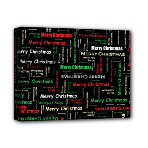 Merry Christmas Typography Art Deluxe Canvas 14  x 11  (Framed)