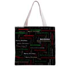 Merry Christmas Typography Art Full All Over Print Grocery Tote Bag