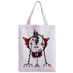 Alien Robot Hand Draw Illustration Full All Over Print Classic Tote Bag