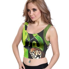 Grass Snake Full All Over Print Crop Top