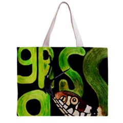 Grass Snake Full All Over Print Tiny Tote Bag
