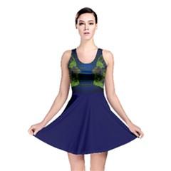 Binary Communication All Over Print Reversible Skater Dress