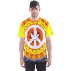 Psychedelic Peace Dove Mandala All Over Print Sport Tee (men)