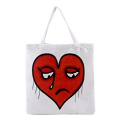 Sad Heart All Over Print Grocery Tote Bag