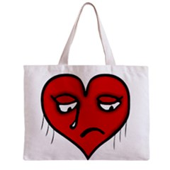 Sad Heart All Over Print Tiny Tote Bag