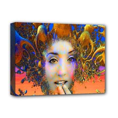 Organic Medusa Deluxe Canvas 16  x 12  (Framed)