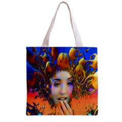 Organic Medusa All Over Print Grocery Tote Bag