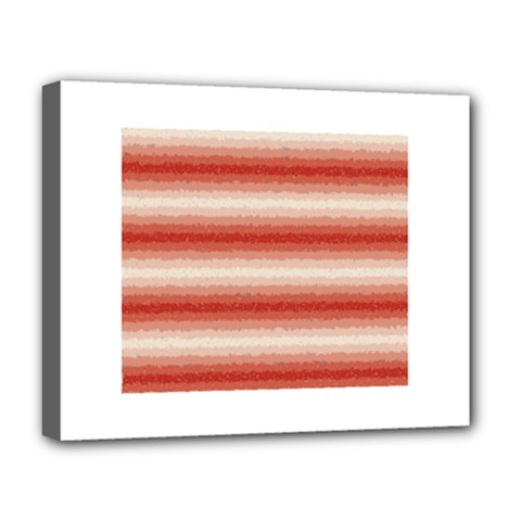 Horizontal Red Curly Stripes Deluxe Canvas 20  x 16  (Framed)