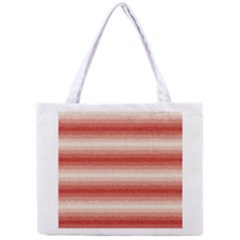Horizontal Red Curly Stripes All Over Print Tiny Tote Bag