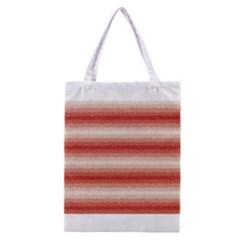 Horizontal Red Curly Stripes All Over Print Classic Tote Bag