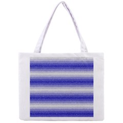 Horizontal Dark Blue Curly Stripes All Over Print Tiny Tote Bag