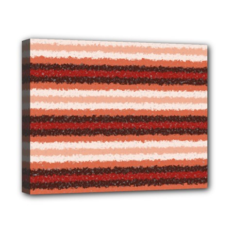 Horizontal Native American Curly Stripes   1 Canvas 10  X 8  (framed)