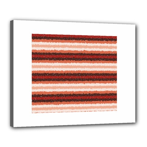 Horizontal Native American Curly Stripes   1 Canvas 20  X 16  (framed)
