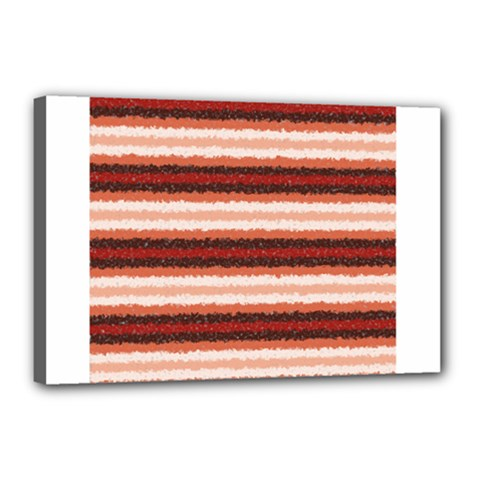 Horizontal Native American Curly Stripes - 1 Canvas 18  x 12  (Framed)