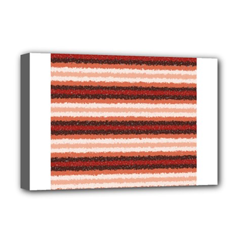Horizontal Native American Curly Stripes - 1 Deluxe Canvas 18  x 12  (Framed)