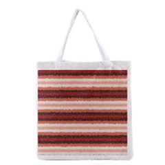 Horizontal Native American Curly Stripes - 1 All Over Print Grocery Tote Bag