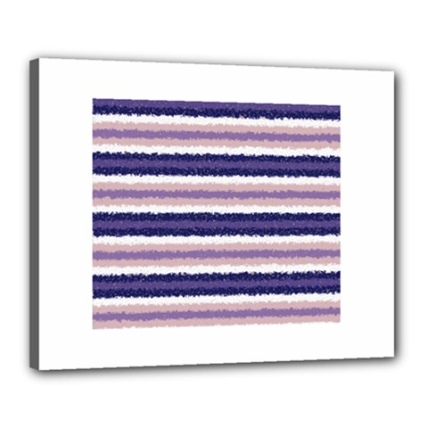 Horizontal Native American Curly Stripes   2 Canvas 20  X 16  (framed)
