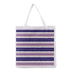 Horizontal Native American Curly Stripes - 2 All Over Print Grocery Tote Bag