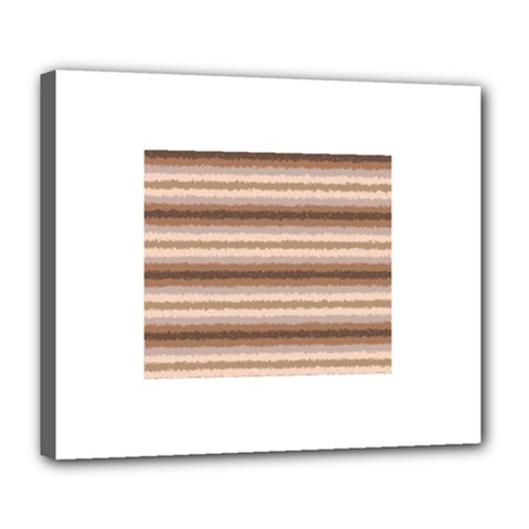 Horizontal Native American Curly Stripes - 3 Deluxe Canvas 24  x 20  (Framed)