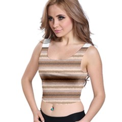 Horizontal Native American Curly Stripes - 3 All Over Print Crop Top