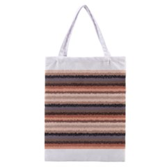 Horizontal Native American Curly Stripes - 4 All Over Print Classic Tote Bag