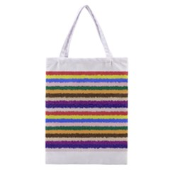 Horizontal Vivid Colors Curly Stripes   1 All Over Print Classic Tote Bag