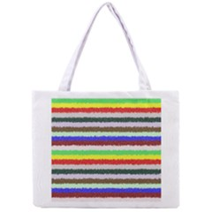 Horizontal Vivid Colors Curly Stripes   2 All Over Print Tiny Tote Bag