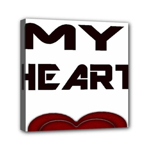 You My Heart Mini Canvas 6  x 6  (Framed)