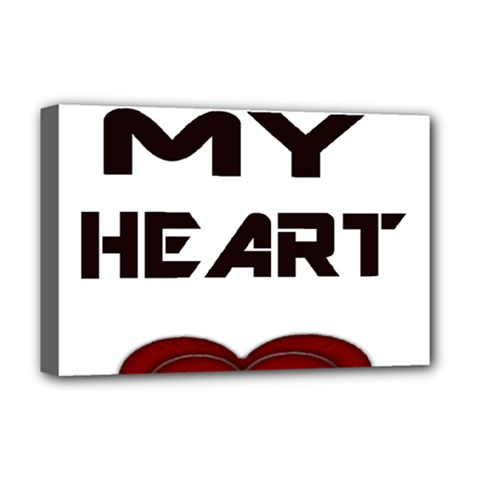 You My Heart Deluxe Canvas 18  x 12  (Framed)