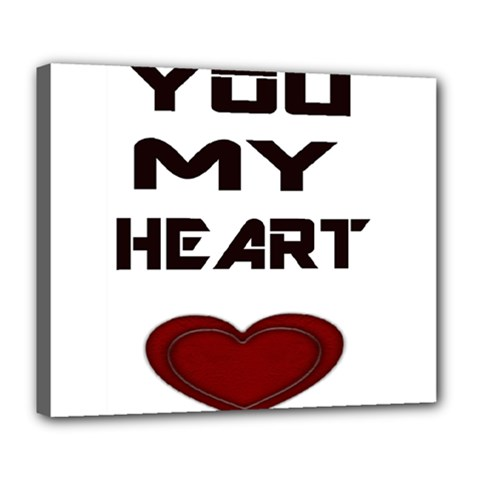 You My Heart Deluxe Canvas 24  x 20  (Framed)