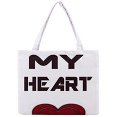 You My Heart All Over Print Tiny Tote Bag