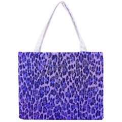 Blue Leopard  All Over Print Tiny Tote Bag