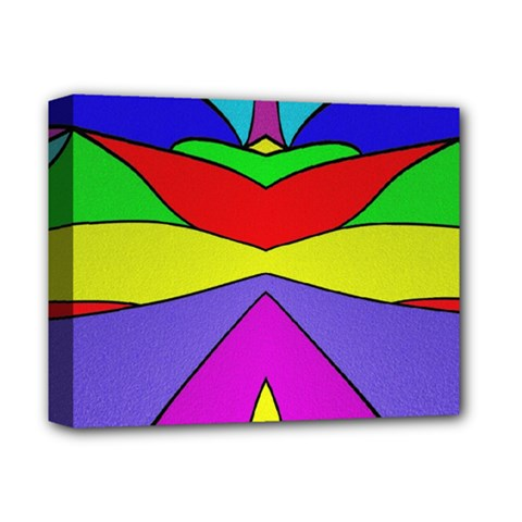 Abstract Deluxe Canvas 14  X 11  (framed)
