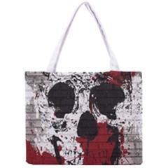 Skull Grunge Graffiti  All Over Print Tiny Tote Bag