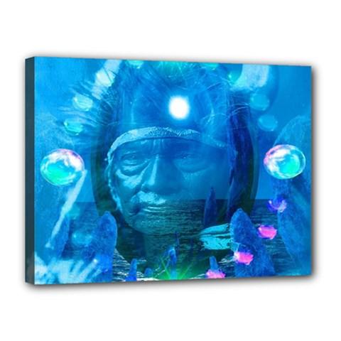 Magician  Canvas 16  x 12  (Framed)