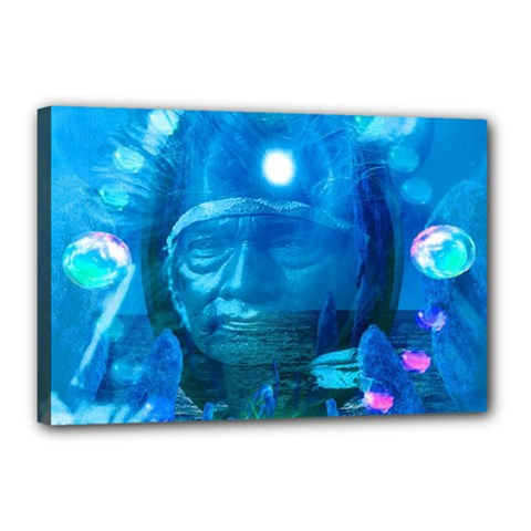 Magician  Canvas 18  x 12  (Framed)