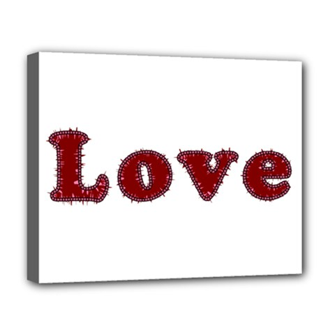 Love Typography Text Word Deluxe Canvas 20  X 16  (framed)