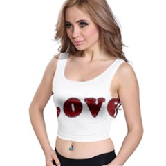 Love Typography Text Word All Over Print Crop Top