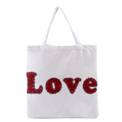 Love Typography Text Word All Over Print Grocery Tote Bag