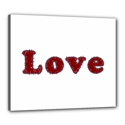 Love Typography Text Word Canvas 24  x 20  (Framed)